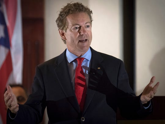 In this Aug. 11, 2017 photo, Sen. Rand Paul, R-Ky.,