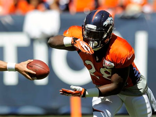 CHRIS SCHNEIDER -- THE ASSOCIATED PRESS Denver Broncos running back Montee Ball has been given the reigns of the backfield after the departure of Knowshon Moreno, and all signs point to Ball having a breakout season