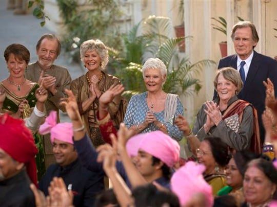The gang, from left, Celia Imrie, Ronald Pickup, Diana Hardcastle, Judi Dench, Maggie Smith and Bill Nighy, are back for The Second Best Exotic Marigold Hotel.