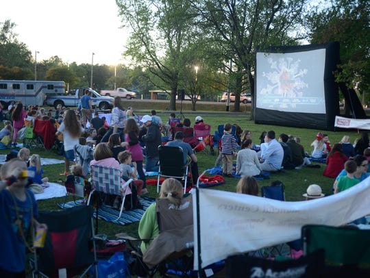 Outdoor movies nights are fun for the whole family. Take your own chairs and a picnic and you are all set.