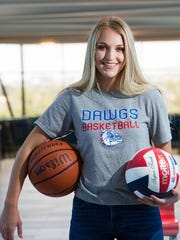Sarah Abney, is the Las Cruces Sun-News Female Athlete of the Year. Abney was a two-sport standout at LCHS and will play Division I basketball at Sacramento State.