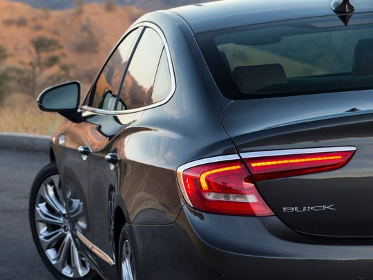 The all-new 2017 Buick LaCrosse LED taillamps.