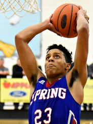 Spring Grove senior Eli Brooks was held to 16 points