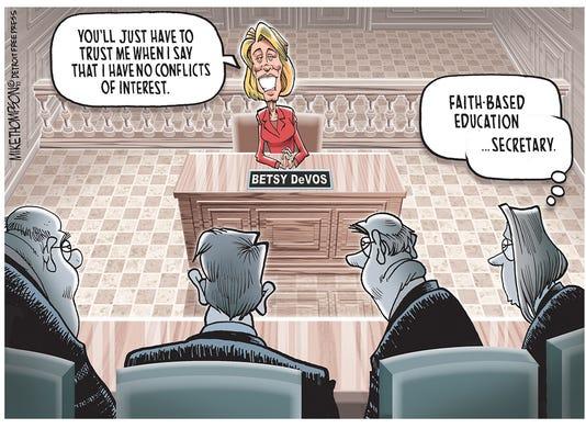 No vetting for Betsy DeVos?