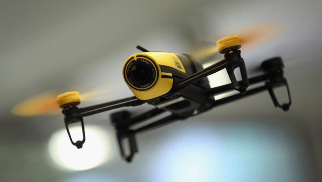 File art of a small drone.