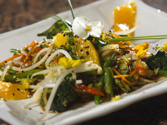 A vegetable stir fry prepared by Chef Chris Mumford,