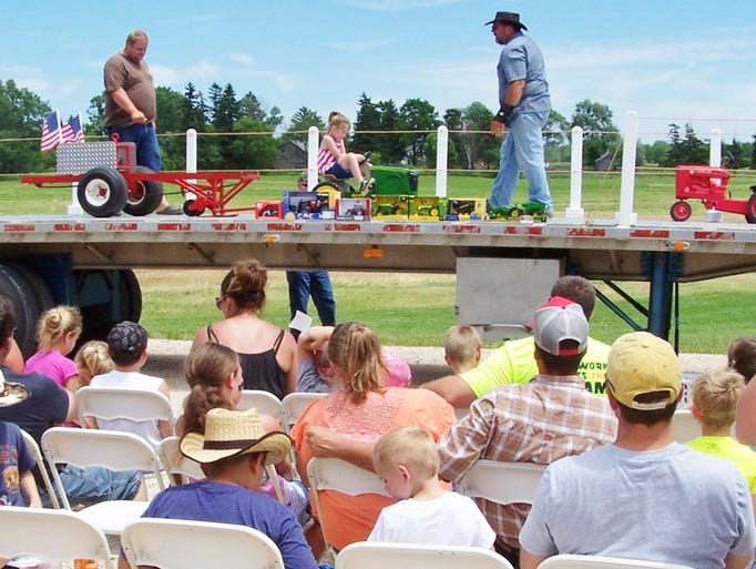 The pedal tractor pull is a crowd favorite as relatives