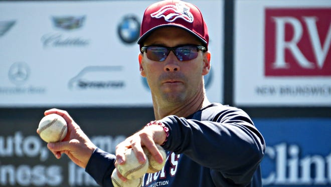 Somerset Patriots manager Brett Jodie was once a highly recruited starting pitcher and quarterback at Lexington (S.C.) High School.