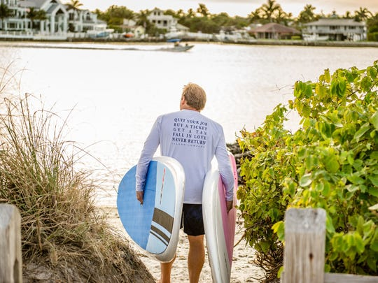The Harmony Exercise is a very holistic exercise because it gets the mind in the present moment and it gets the body to reset, activating the feeling of love and gratitude toward ourselves and others, according to John Denny, pictured recently in Jupiter.