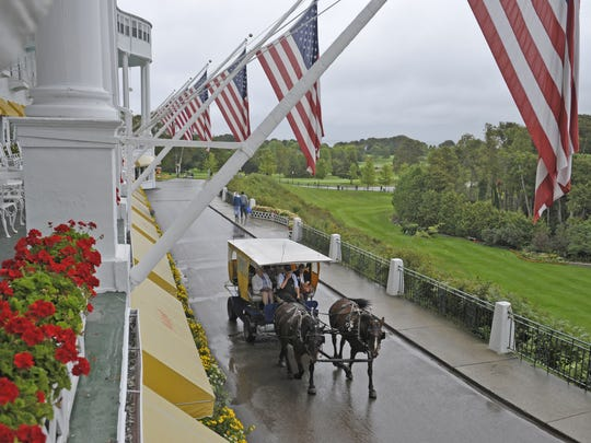 The Mackinac Policy Conference is an annual tradition at the Grand Hotel on Mackinac Island.
