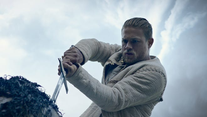 Charlie Hunnam plays the hero who wields the magical Excalibur in 'King Arthur: Legend of the Sword.'