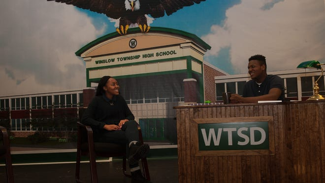 Ready for a new talk show? Winslow residents will soon meet their hosts, students Savannah Page and Clyde Killebrew, who will help present the monthly board of education meeting in a more entertaining format.