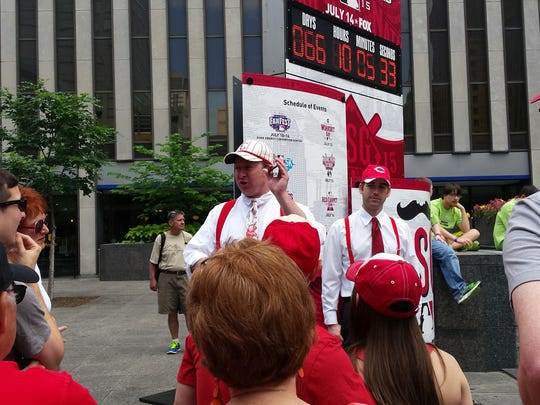 The 1919 baseball tour starts on Fountain Square every Saturday until the end of October.