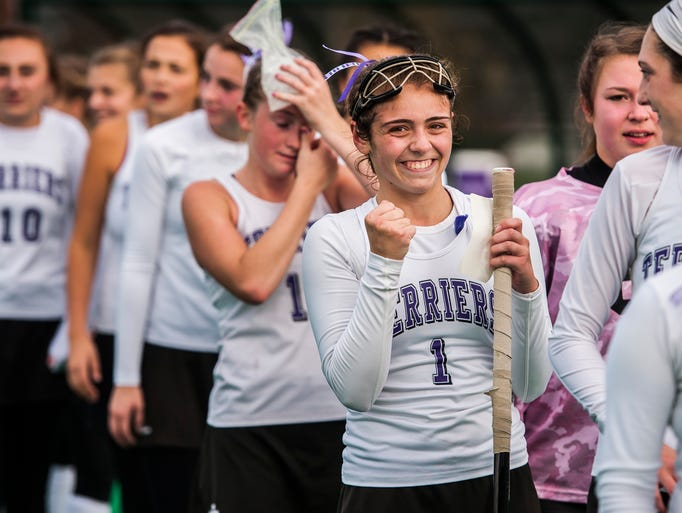 Bellows Falls #1 Abbie Cravinho can't hold back a smile
