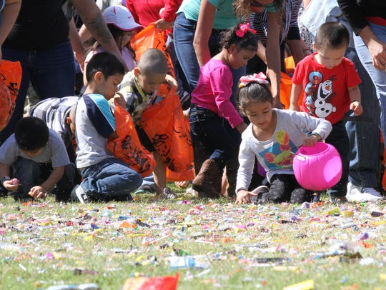 Children and their families were treated to hot dogs,