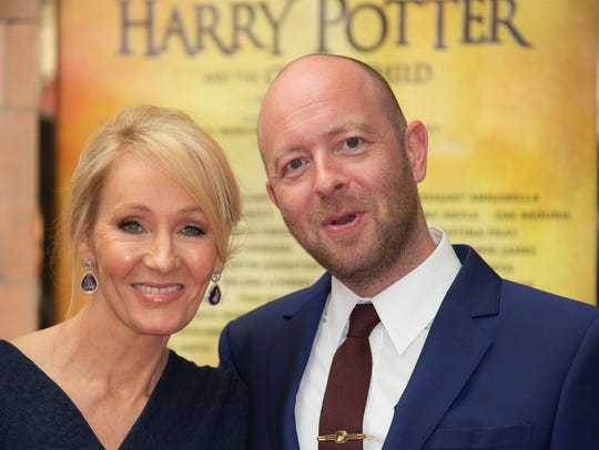 J.K. Rowling and director/co-writer John Tiffany arrive