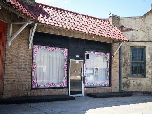 Vacant buildings in downtown San Angelo