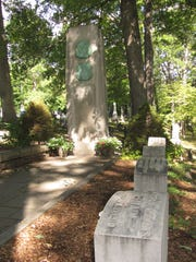The monument today in the Langdon-Clemens family grave plot at Woodlawn Cemetery, Elmira.