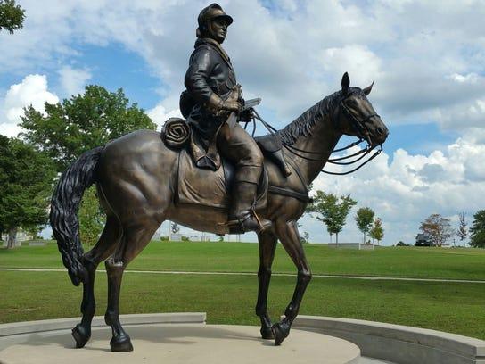 """James Hall's monumental bronze sculpture """"Marechaussee,"""""""