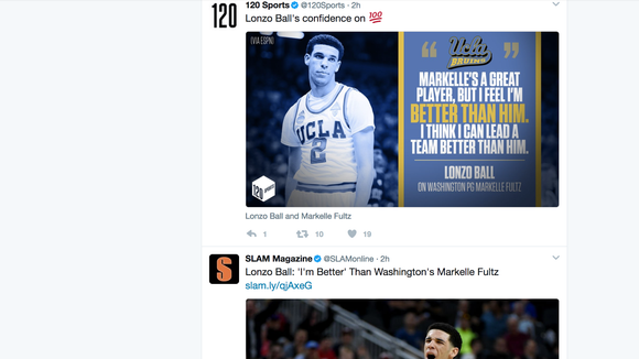 Markelle Fultz appears to be subtly using Lonzo Ball's comments as NBA motivation