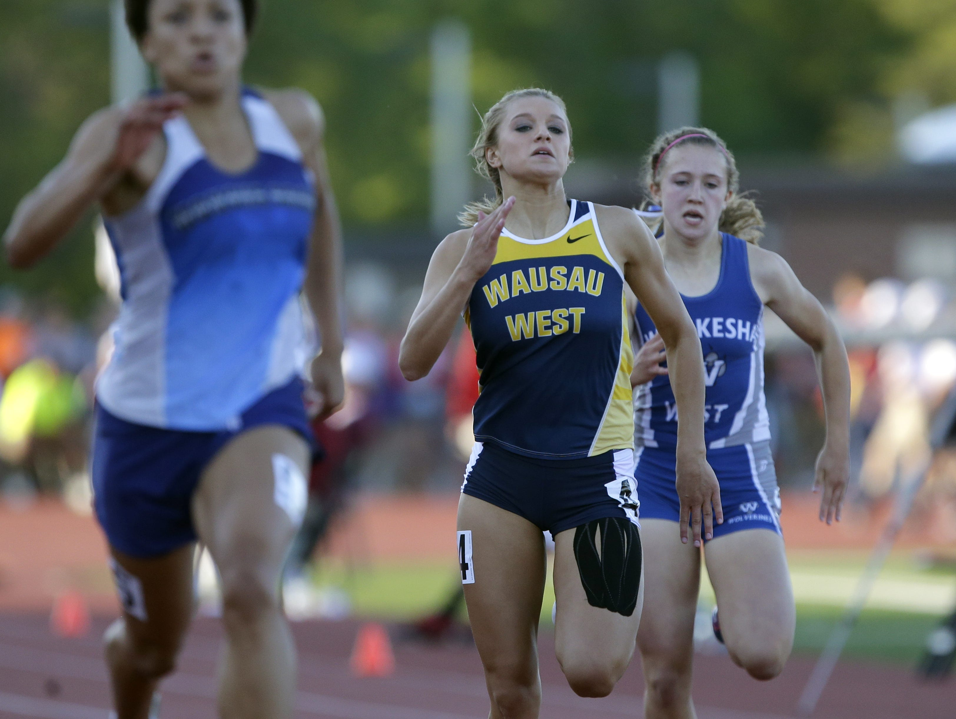 Wausau West's Alyssa Faucett will continue her track career at the University of Minnesota