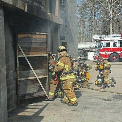 Va. Beach, Chesapake, and Norfolk firefighters training
