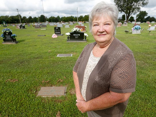 Margaret Salsman stands near what she hopes will someday