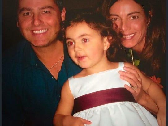 Kevin Dobson, Bridget Hastings and their daughter, Brooke.