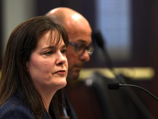 Tennessee Education Commissioner Candice McQueen testifies