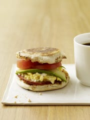 Each Weight Watchers Egg, Canadian Bacon, Avocado and