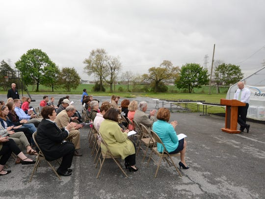 Dignitaries and guests attended a ribbon cutting of