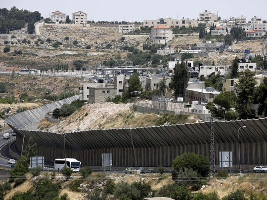 Parts of the Israeli separation wall near the West