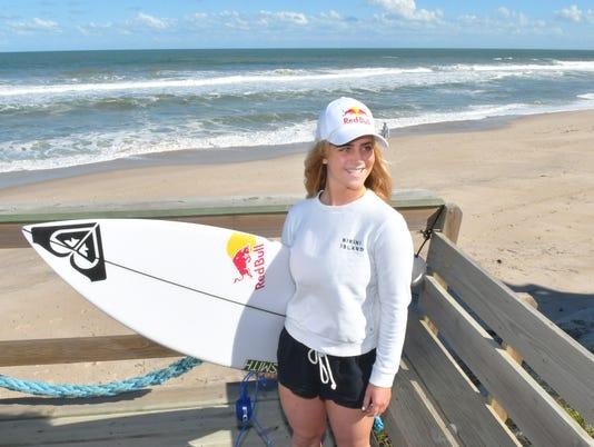 Surfer Caroline Marks