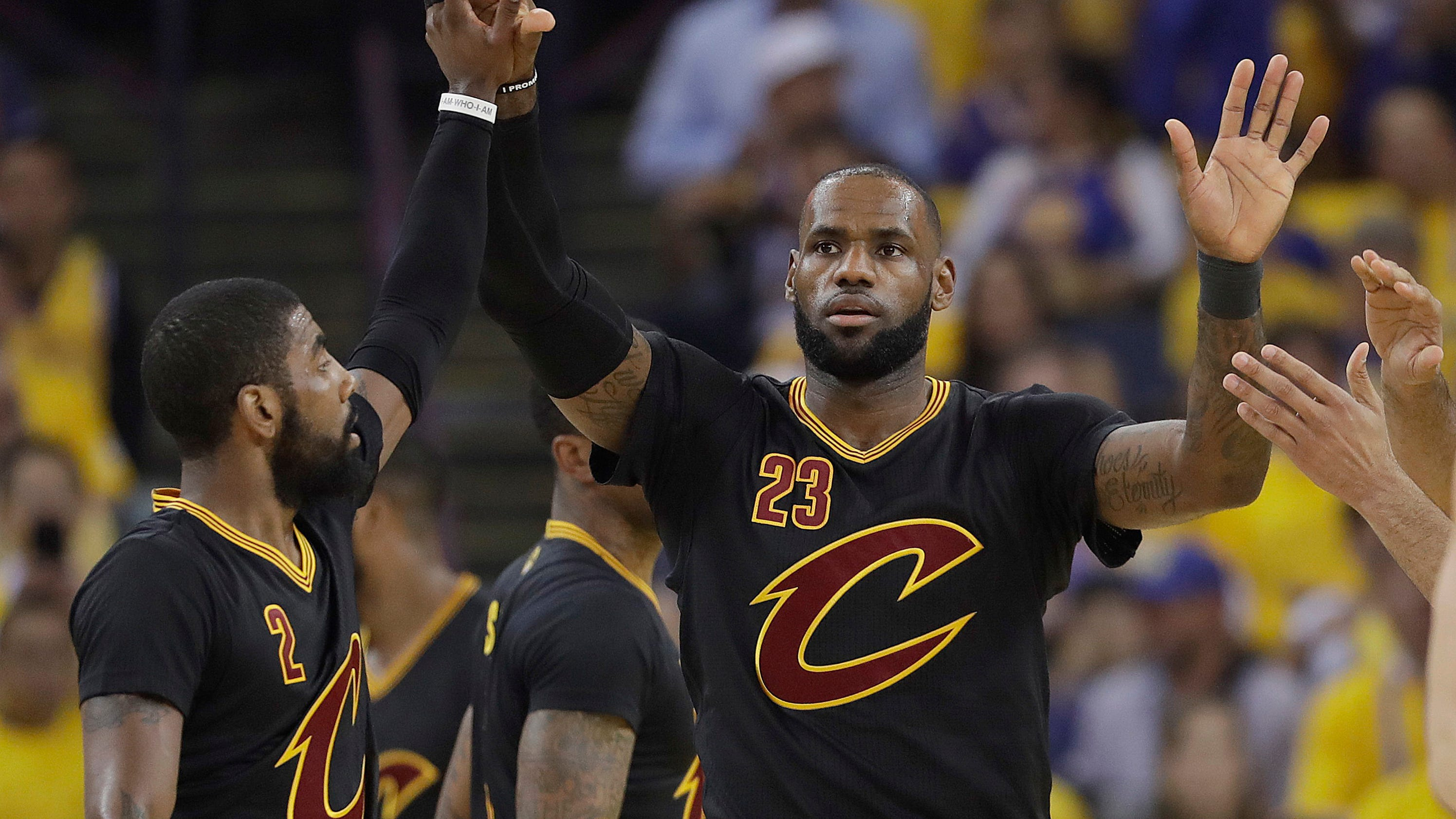The Latest: Cavs jump out to early lead, fouls a factor