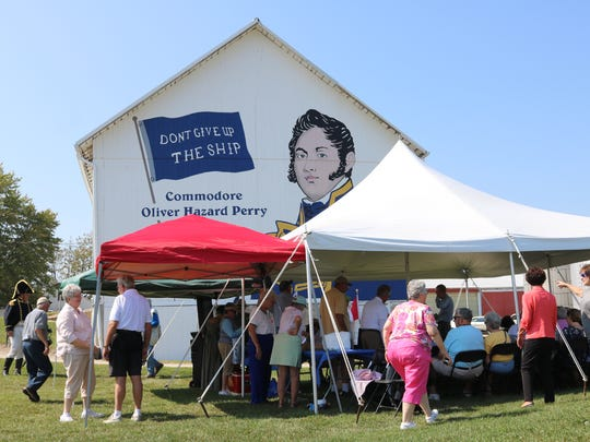 Ottawa County's Ohio History Barn featuring a mural of Commodore Oliver Hazard Perry was dedicated on Friday, in front of dozens of history buffs along with state and locals officials.