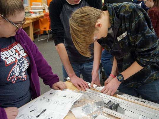 Students from South Doyle High School participate in
