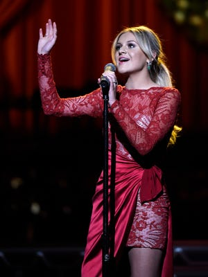 Kelsea Ballerini performs at the CMA Country Christmas at the Opry House.  Tuesday Nov. 8, 2016, in Nashville, Tenn.