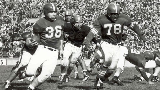 """Known as the """"60-minute man,"""" Coleman (78) was MSU's"""