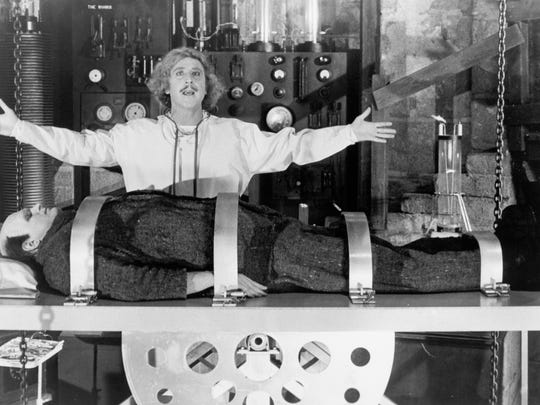 Gene Wilder and Peter Boyle (The Monster) in 'Young