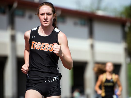 Union-Endicott Junior Emily Mackay, 17, was the winner of the women's 3000 meter race at the Parkhurst Invitational on Saturday, May 9, 2015.