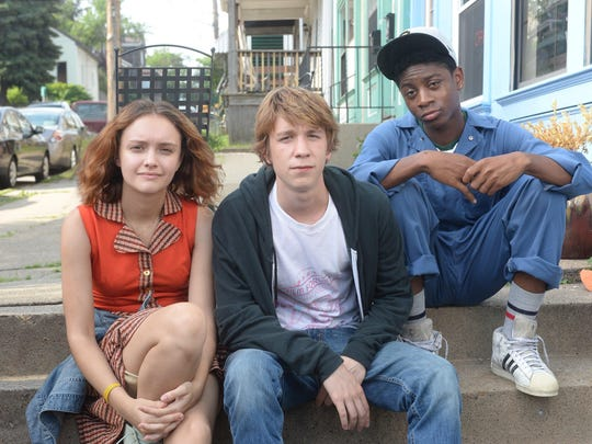 "Olivia Cooke, Thomas Mann and RJ Cyler in ""Me and Earl and the Dying Girl."""