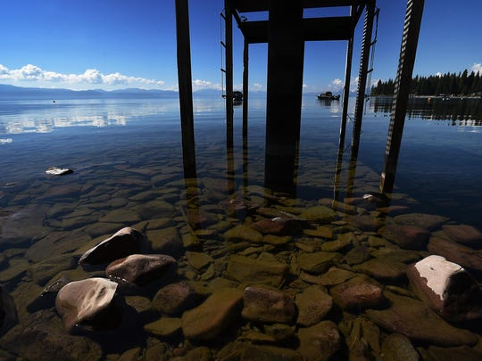 Lake Tahoe is seen at Agate Bay on May 26, 2015.
