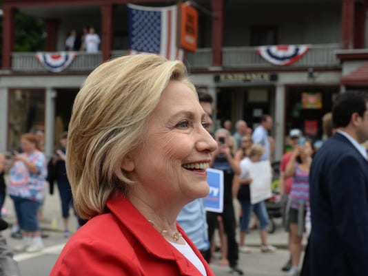Hillary Clinton Campaigns On Fourth Of July In New Hampshire
