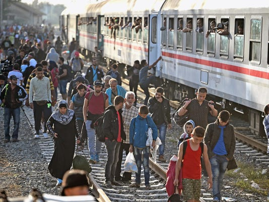 Migrants Arrive In Tovarnik As Croatia Becomes The New Route Into Europe