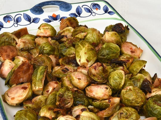 Roasting Brussels sprouts brings out a nutty flavor.