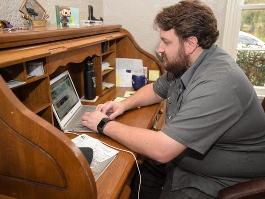 """The home Jay Ducote has dubbed his """"#officehouse"""" is nestled in a cozy neighborhood near the Garden District in Baton Rouge."""