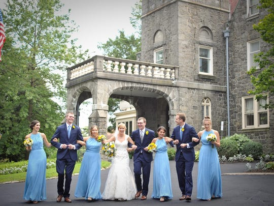 A wedding party at the University and Whist Club in Wilmington.