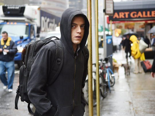 "Rami Malek in ""Mr. Robot,"" which concludes with a two-hour finale Sunday on the USA Network."