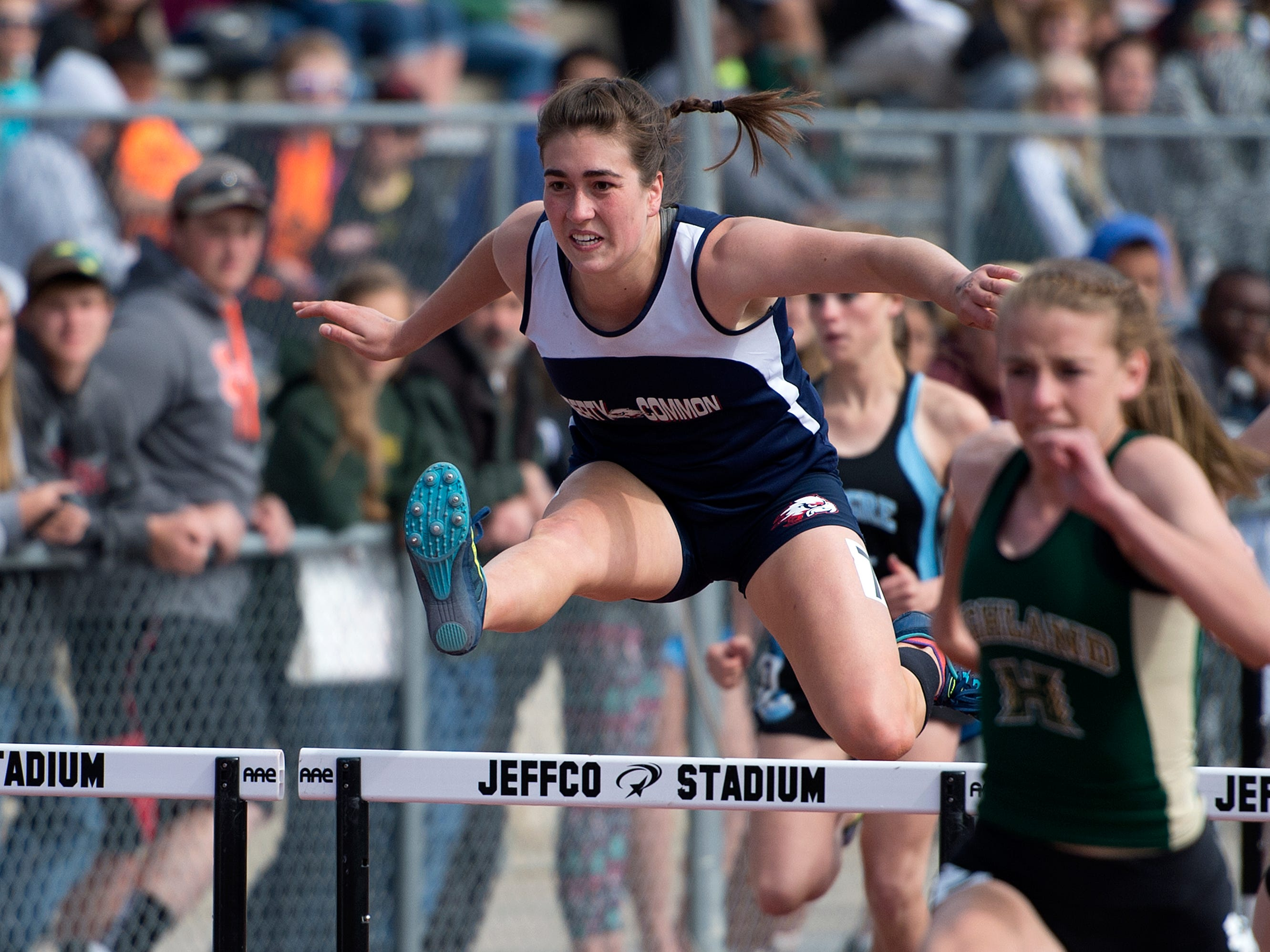 Liberty Common's Eva Morrison finished second in Class 2A in the 100 hurdles last year. All six Fort Collins high schools will compete in the city track meet Tuesday.
