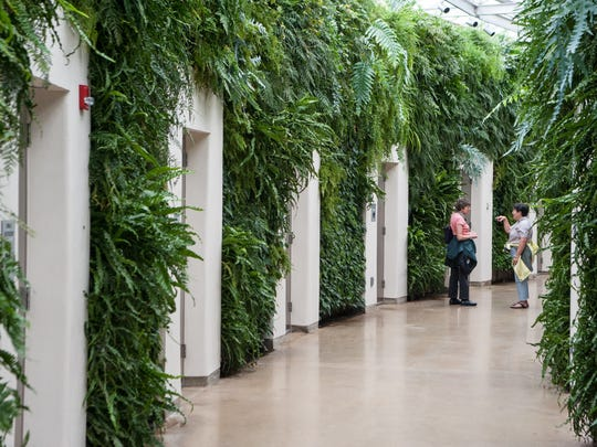The restrooms in Longwood Gardens conservatory in Kennett Square, Pa., are front-runners in a national best-bathroom contest.